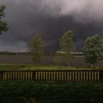 A photo of the tornado as it cut through central Arkansas on April 27, 2014.